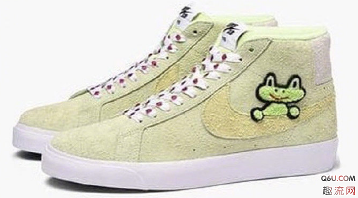 耐克SB Blazer联名滑板青蛙谍照 Frog Skateboards x Nike SB Blazer发售信息