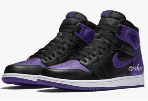 "AJ1 ""Court Purple""黑紫配色谍照曝光 AJ1 ""Court Purple""黑紫什么时候能发售"