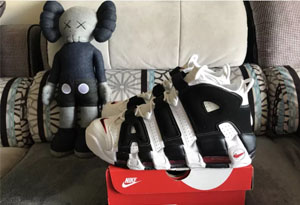 Nike AIR more黑白开箱测评 耐克皮蓬大AIR增高多少