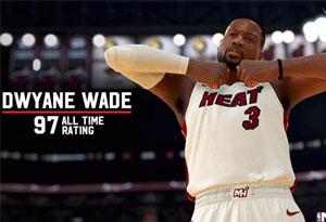NBA2K19韦德职业生涯能力值97 nba2k19紫水晶韦德厉害吗
